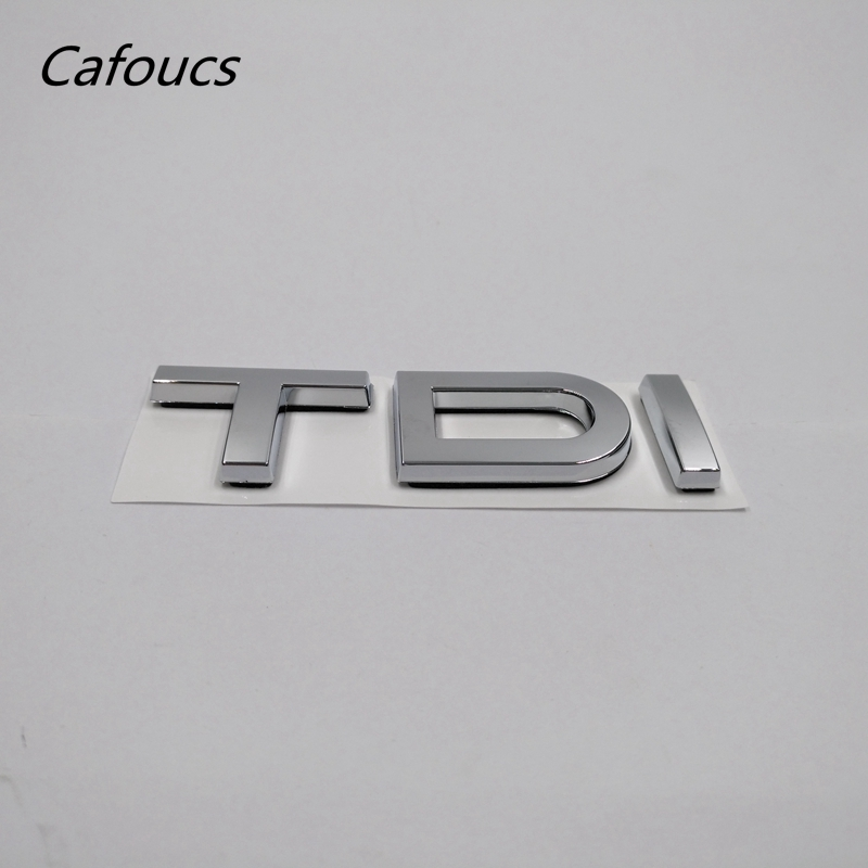 цена на Chrome Silver TDI Letters Logo For Audi A3 A4 A5 A6 A8 Q3 Q5 Q7 TT Auto Rear Badge Emblem Sticker