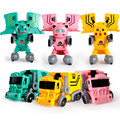 New Robot Car Transformation Wizard Deformation Train Robot Car Kids Gifts Toys