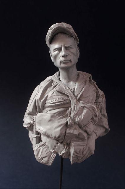 1/10  US ancient man bust Resin figure Model kits Miniature gk Unassembly Unpainted