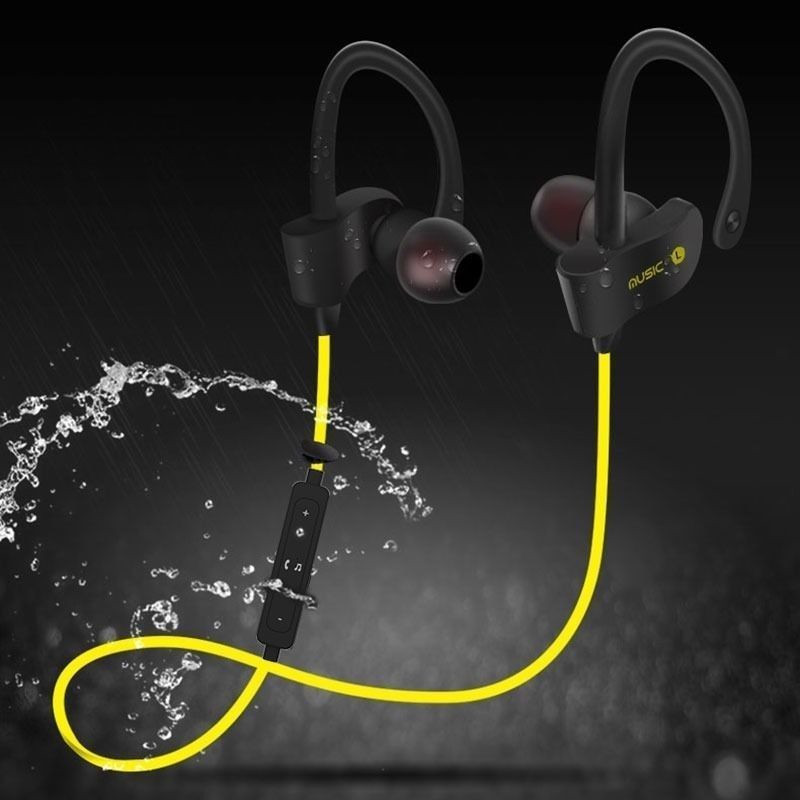 Neckband Waterproof Headset BluetoothV4.2 Wireless Handsfree Stereo Sport Earphone With Microphone For IPhone 7 7PLUS 6S Samsung pudini wb 530 protective flip open pu pc case w stand for nokia lumia 530 golden