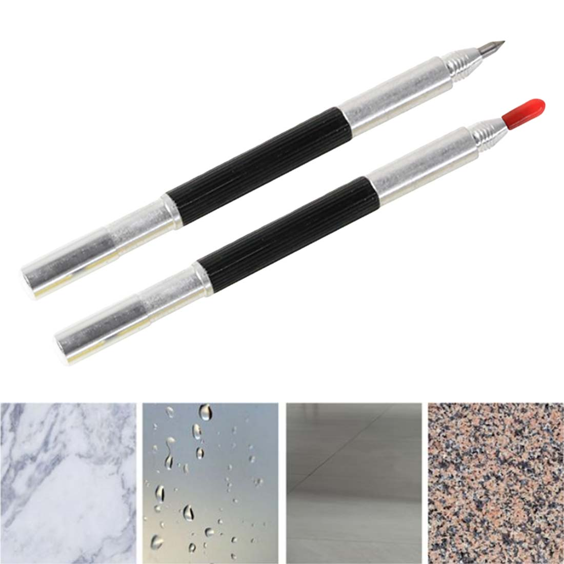 Double Head Glass Tile Cutter Pen 130mm Carbide Scriber Hard Metal Tile Cutting Machine Lettering Pen Glass knife