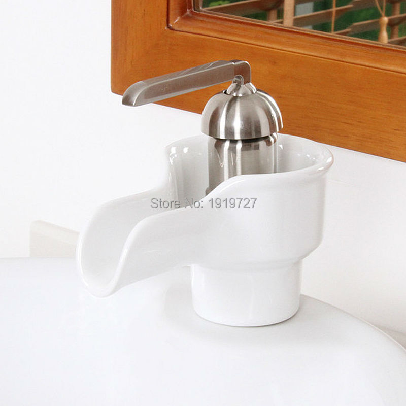 High Quality Patent Design Luxury Oil Rubbed Bronze Brushed Nickel Chrome Mixer Tap Bathroom Waterfall Vessel Sink Faucet automatic touchless sensor waterfall bathroom sink vessel faucet oil rubbed bronze