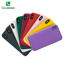 Candy Color Silicone Cases For iPhone X XS Max XR Case Soft Silicon TPU Matte Color Back Cover For iPhone 8 7 6 6s Plus 5 5S SE цена и фото
