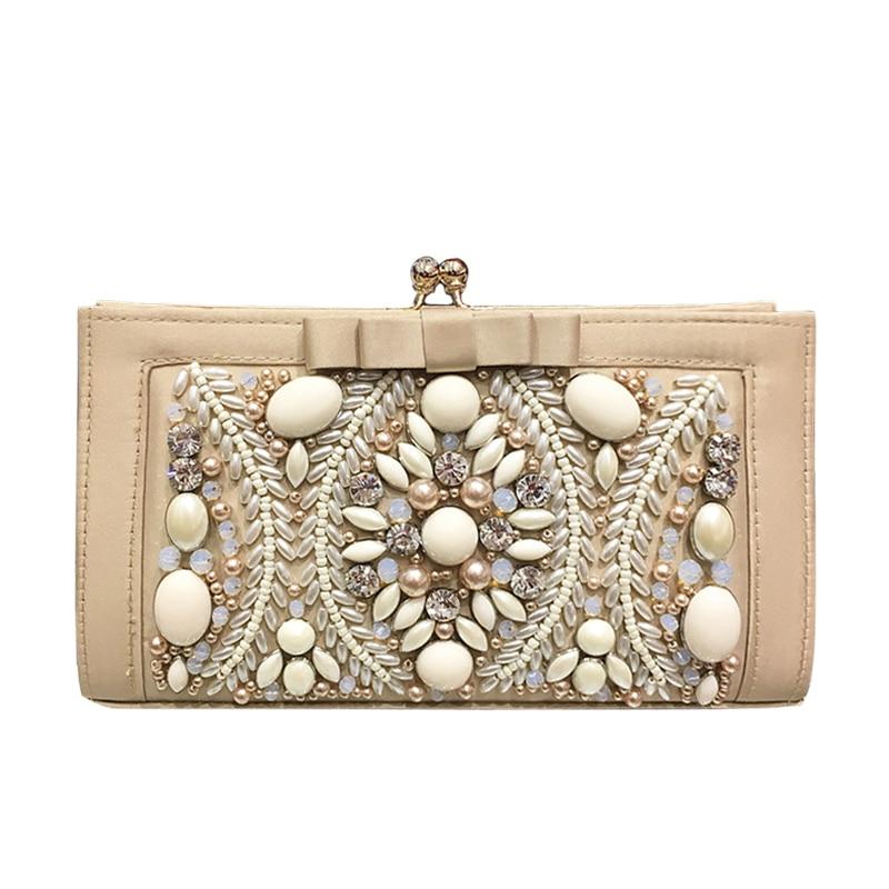 Dinner Clutch bag NEW arrived women hand-beaded evening bag banquet bags European and American clutch bag bride diamond purse