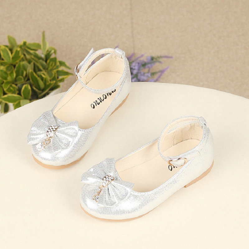 Girls Princess Shoes 2018 New Toddler Summer Rhinestone Brand Children Bowknot Sneakers for Girls Casual Shoe Soft Soles EU21~36