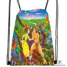 Custom Tarzan-dust finger lover-Drawstring Backpack Bag Cute Daypack Kids Satchel (Black Back) 31x40cm#180611-01-13