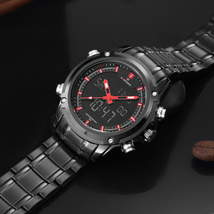 Image 4 - שעונים גברים NAVIFORCE מותג ספורט מלא פלדת קוורץ אנלוגי LED שעון Reloj Hombre צבא צבאי שעוני יד Relogio Masculino