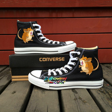 High Top Converse All Star Raticate Pokemon Design Hand Painted Canvas Shoes Men Women Sneakers Boys Girls Gifts