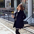 Autumn Winter women's trench outerwear women's jacket maternity jacket trench Pregnant clothing coat European Style dress 16876