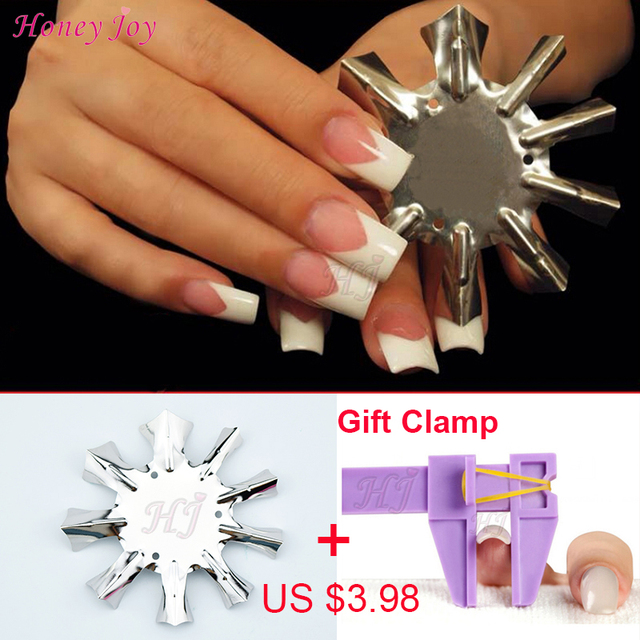Professional 1 9 Sizes V Shaped Cutter French Manicure Nail Art Tool ...