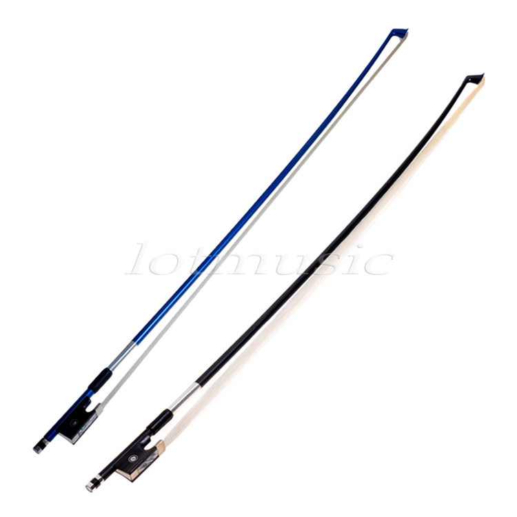 2 set carbon fiber Violin Bow Stunning Bows 1/2 Violin Bow-Blue&Black top grade carbon fiber 4 4 violin bow straight pretty inlay 17