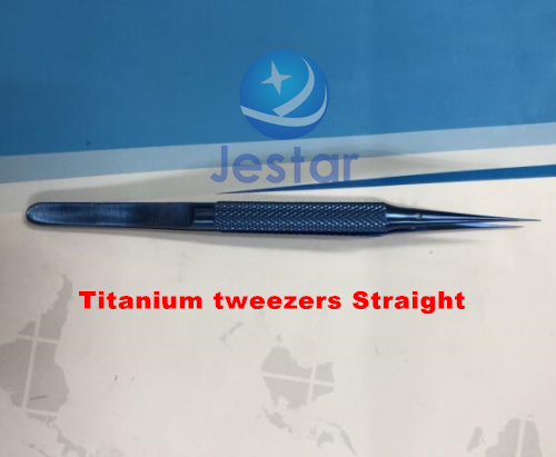 Professional Repair 0.15mm Fine Tip Titanium Alloy Stainless Steel Repair Strong Fingerprint Straight Tweezers Precise Acid-fast