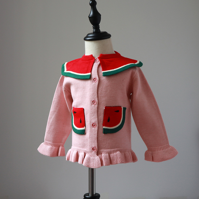 6cbd3a7b2 Children s sweaters 2018 spring and autumn girls watermelon sweater ...