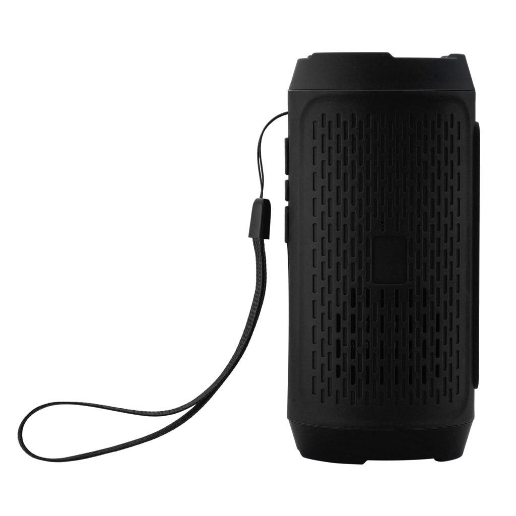Portable Bluetooth Outdoor Speaker Waterproof Portable Wireless Column Loudspeaker Box Support SD Card FM Radio Aux Input #YJP