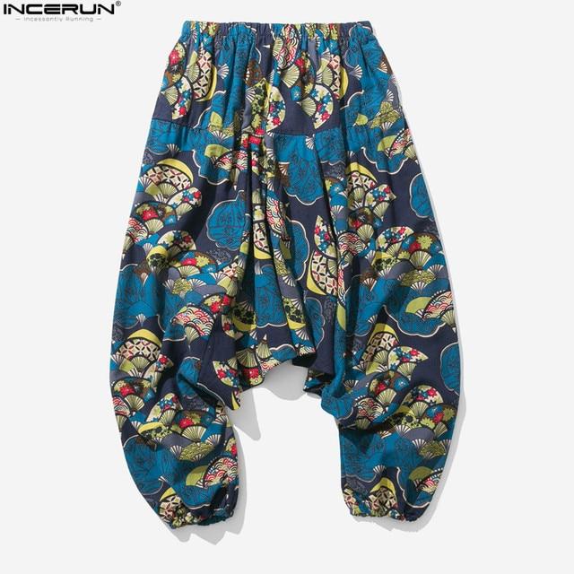 New Hip Hop Aladdin Hmong Baggy Cotton Linen Harem Pants Men Women Plus Size Wide Leg Trousers New Boho Casual Pants Cross-pants 4