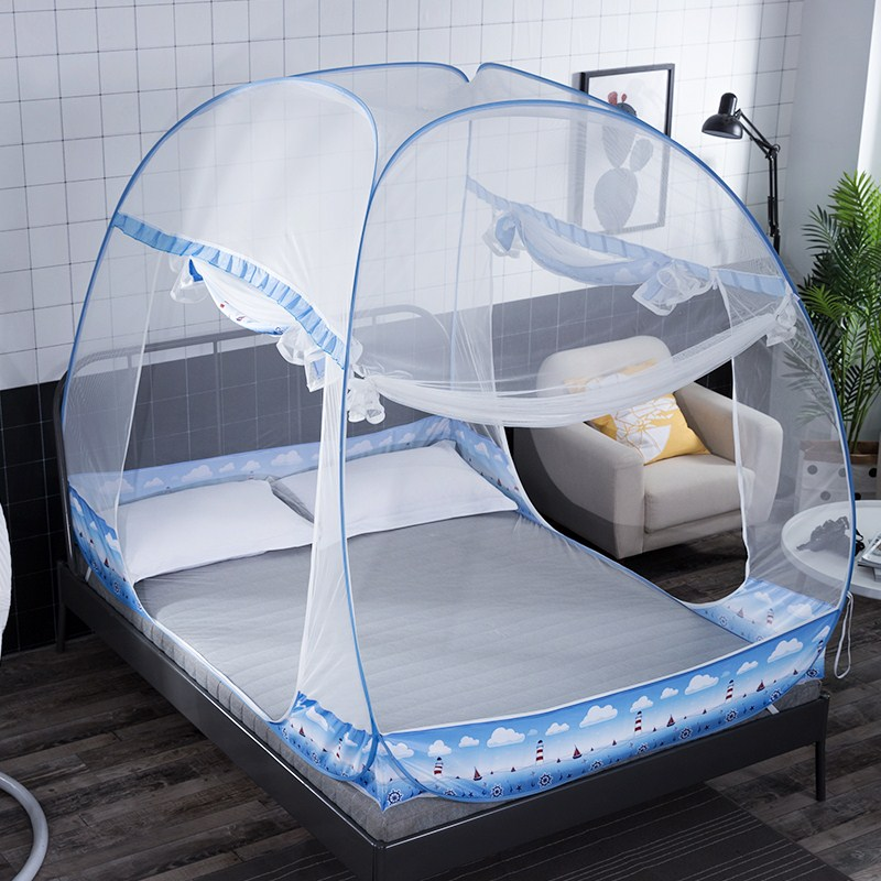 Large capacity folding mosquito net bi parting mosquito - Bed canopies for adults ...