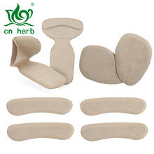 Cn Herb Flannel can stick the forefoot pad heel paste two-in-one four sets of anti-foot wear card foot