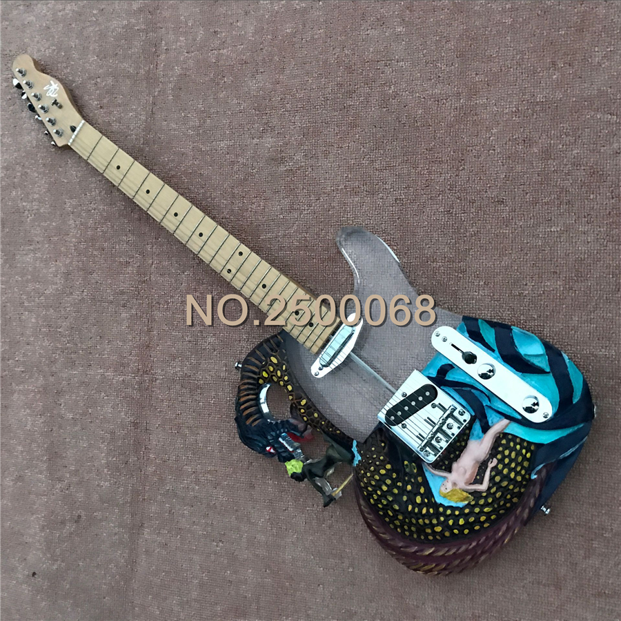 acrylic body tl hand painted dragon electric guitar chinese semi transparent electric guitar. Black Bedroom Furniture Sets. Home Design Ideas