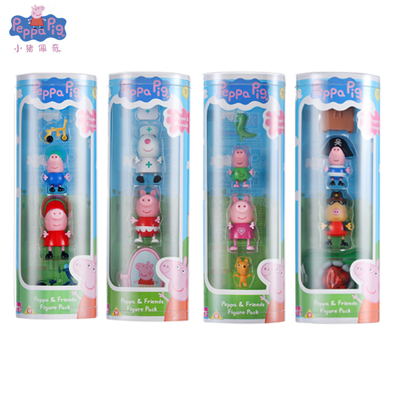 Peppa Pig Love Learning Classroom Scene Action Figures Toy Peppa George Pig Friends Model Cake Decoration Kid Toy Gift 4 Styles