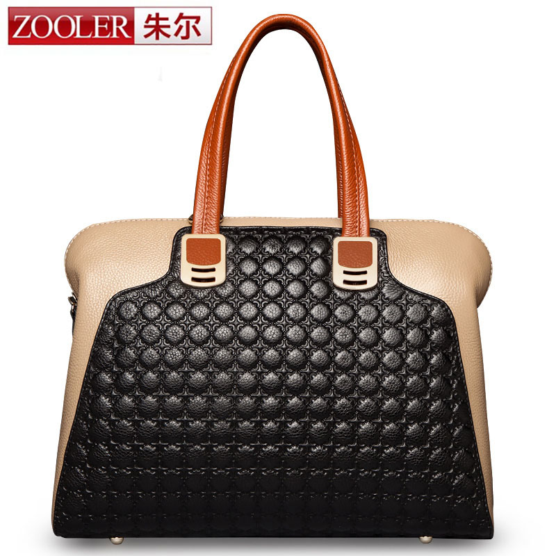 ZOOLER Embossing Pattern Genuine Leather Bag Women Shoulder Bags Luxury Handbags Women Bags Designer Famous Brands High Quality zooler hot bags handbags women famous brands 2018 genuine leather woman bag shoulder bags cowhide tote luxury high quality 110