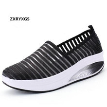 2019 New Fashion Gauze Breathable Summer Shoes Women Casual Sneakers Light Comfortable Wedges Loafers