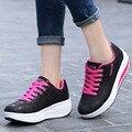 Cunhas Casuais Plataforma Tenis Feminino Menina Mulheres Baratos sapatos de Salto Alto Sapatos Sapatos de Ginástica Cesta Femme 2016 Slipony Krasovki YS Femininos x106