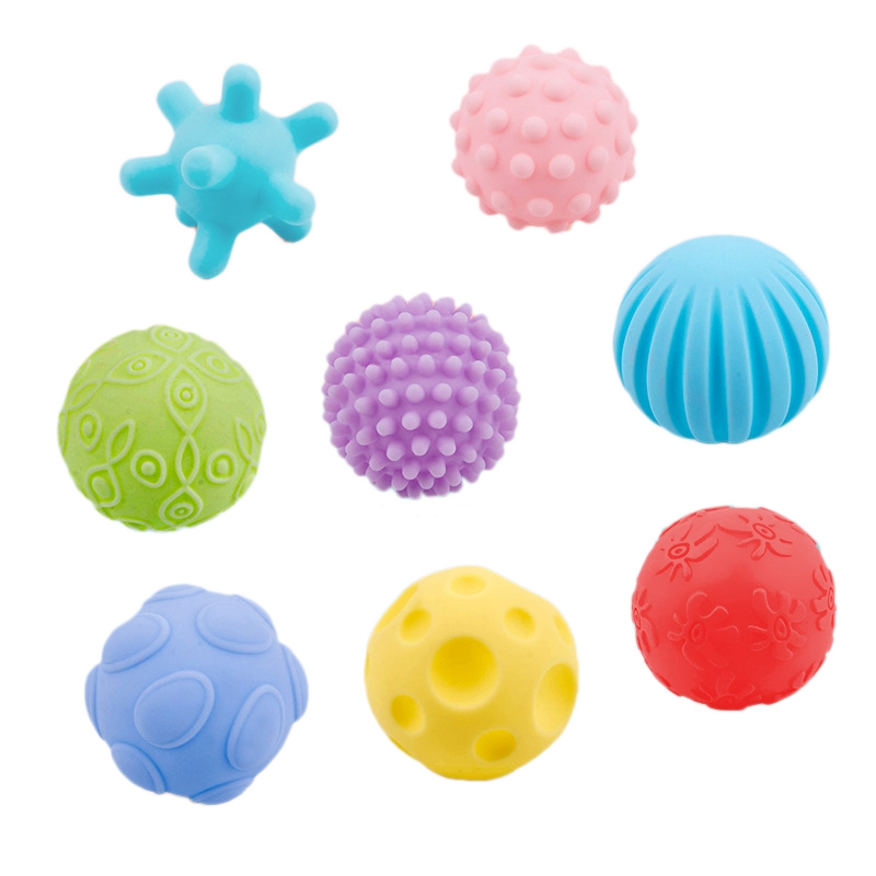 Baby Hand Multi-Texture Grip Ball Puzzle Baby Play Water Grip Exercise Soft Rubber Pinch Ball