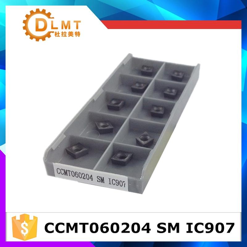 10PCS CCMT060204 SM IS907 CCMT060204 SM IS908carbide درج چرخش - ماشین ابزار و لوازم جانبی