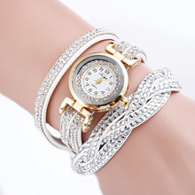 2017yearsReloj Mujer Rhinestone Watch Women Ladies watch Bracelet Crystal Gold Watches relogio Quartz Female Clock