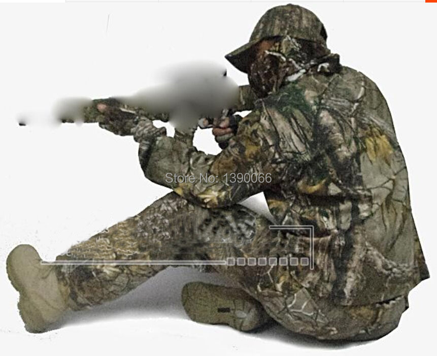 All Seasons Tactical camouflage clothing ghillie suit outdoor sports cotton hunting clothes shirt pants cap for fishing camping