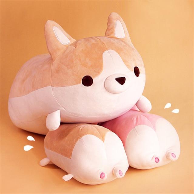 Soft Cargi Butt Pillow Doll Giant Animals Fat Arse Corgi Dogs Toy