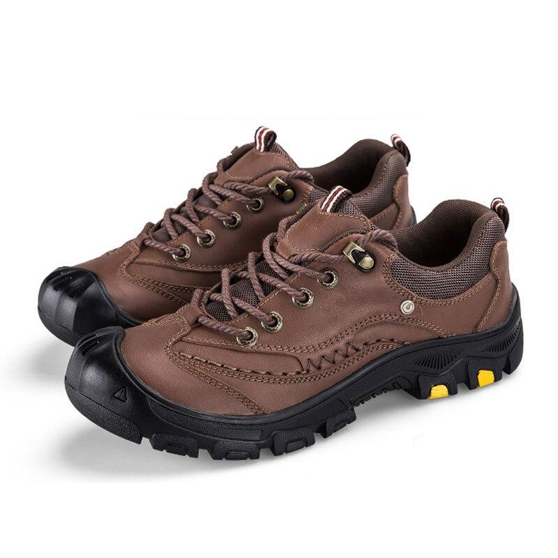 Black brown 44 Hombres Zapatos Tamaño Resistentes Calzado Botas Aire Del 38 Cuero Backcamel Calidad Al Gran Alta Libre Antideslizante Casuales Desgaste Genuino A41RFnwxq