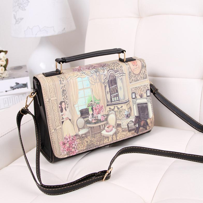 fa9b470cf6ac Canvas London Big Ben landscape character women s fancy shoulder bag  ladies  easy taking beautiful scenery messenger bag-in Shoulder Bags from  Luggage …