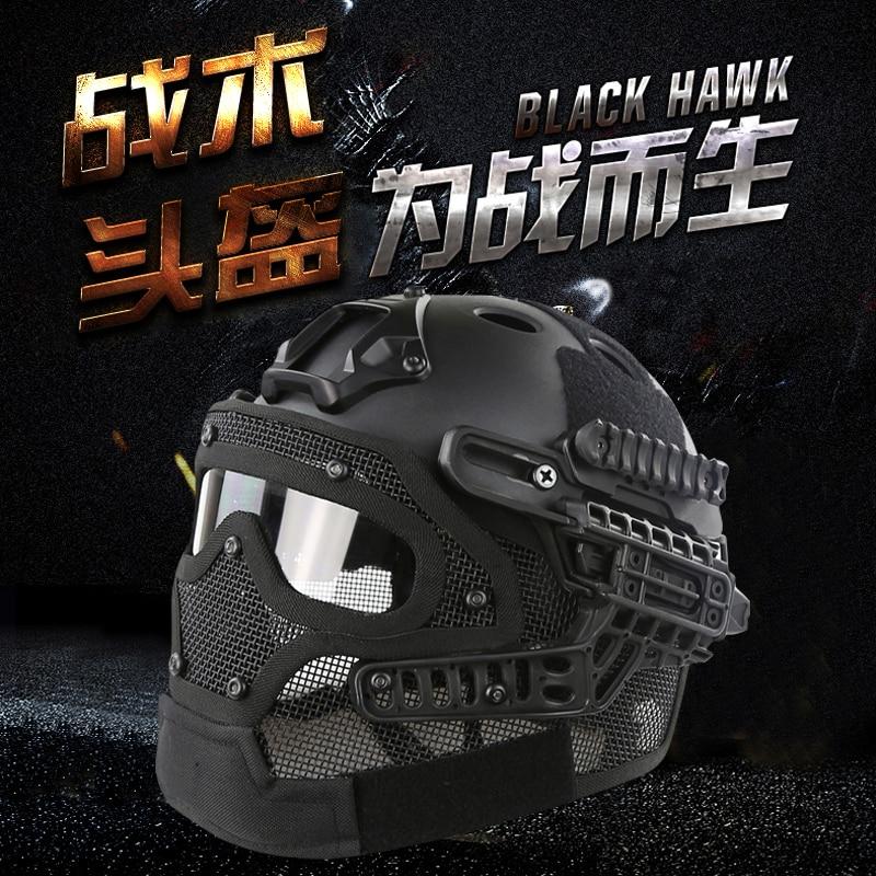 2017 Nouveau G4 Système Tactique Casque ABS Plein Visage Masque avec Goggle Pour Militaire Airsoft Paintball Armée rapide casque 14 couleurs