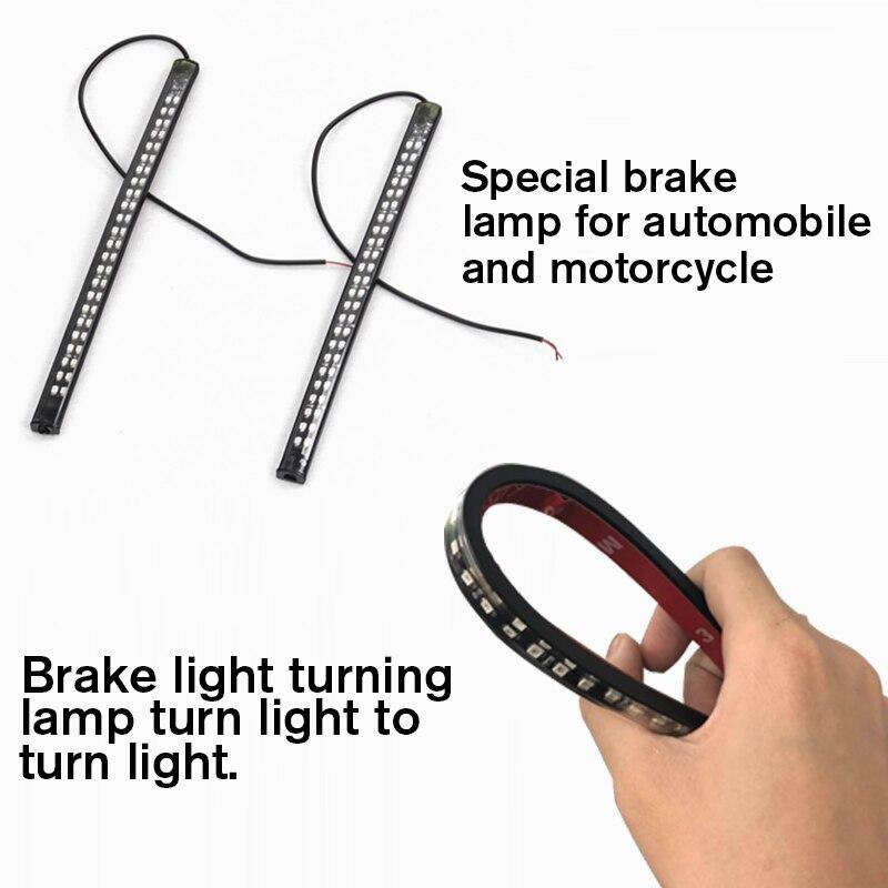 1PC Universal Flexible Brake Tail Stop Light Led Strip Motorcycle Led Tail Light Turn Signal Brake License Plate Strip Flexible