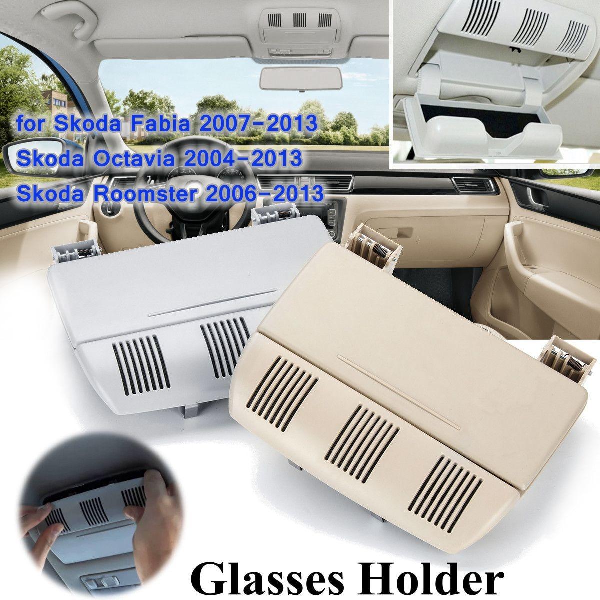 Car Sunglasses Holder Glasses Holder Case Storage Box for Skoda Fabia Octavia Roomster 1Z0 868 565 1Z0868565E 2004-2013 эмблема для авто vw original oem vw skoda skoda fabia octavia roomster