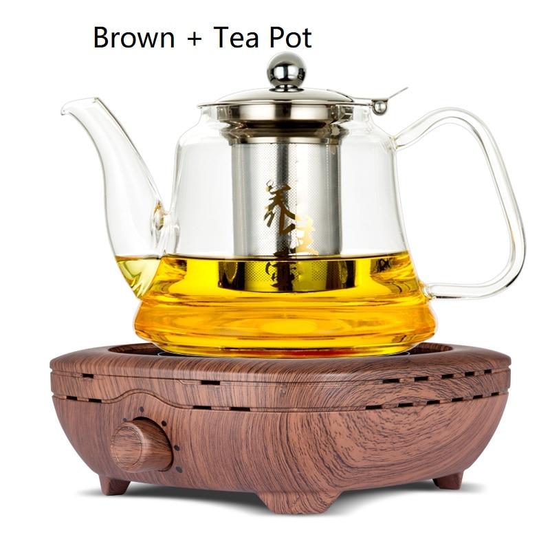 AC220 240V 50 60 hz mini elektrische keramische kookplaat kokend thee verwarming koffie 800 w power FORNUIS KOFFIE HEATER MET THEE POT - 2