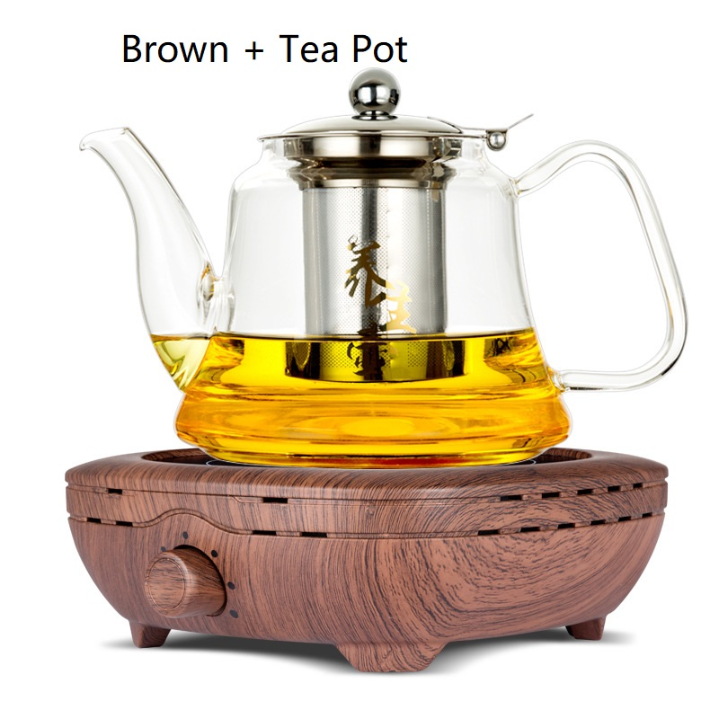 AC220 240V 50 60hz mini electric ceramic stove boiling tea heating coffee 800w power COOKER COFFEE HEATER WITH TEA POT - 2