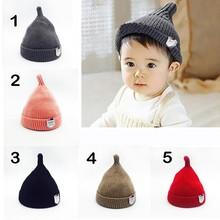Autumn Winter Baby Girl Boy Hat Fashion Knitted Crochet Nipple Hat Warm  Soft Cute Hats 0 e621ee20b68c