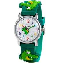 3D Cartoon Crocodile Design Analog Band Little Boys Girls Children Wrist Kids Watches