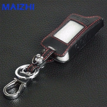 5 Buttons Leather Key Cover Case For Tomahawk TZ9010 TZ9030 LCD Remote Only Tomahawk TZ 9010 Two Way Car Alarm Car-styling
