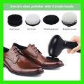 Elektrische Schuhe Polierer Handheld Reinigung Maschine Leder Glanz Pinsel Schuhe Reinigung Pinsel Kit für Leder Taschen Kleidung-in Schuhbürsten aus Heim und Garten bei