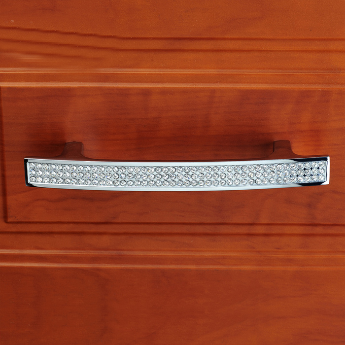 96mm Glass Crystal Cabinet Door Handle Pull wardrobe Dresser Drawer Handle Modern Furniture Hardware цена и фото