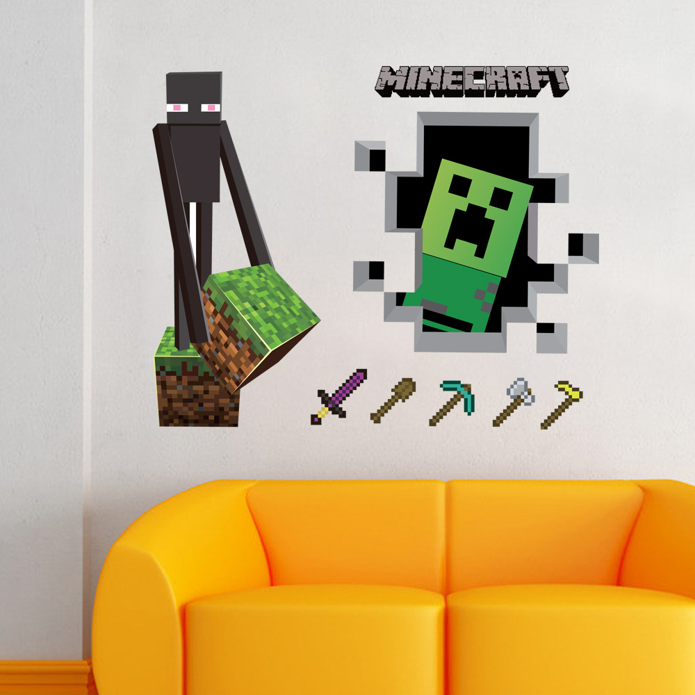 Minecraft Wall Sticker Choice Image Home Wall Decoration Ideas - 3d minecraft wall decals