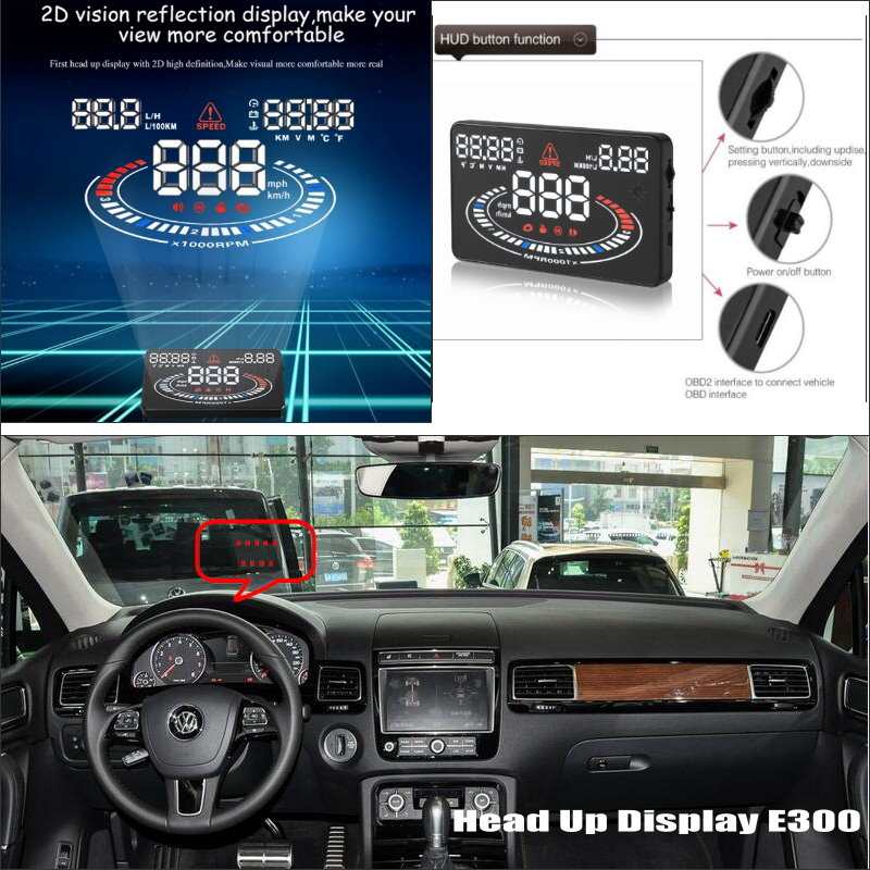 Automobile Information Projector Screen For VW VolksWagen Touareg - Can Projection to windshield car's HUD head up display