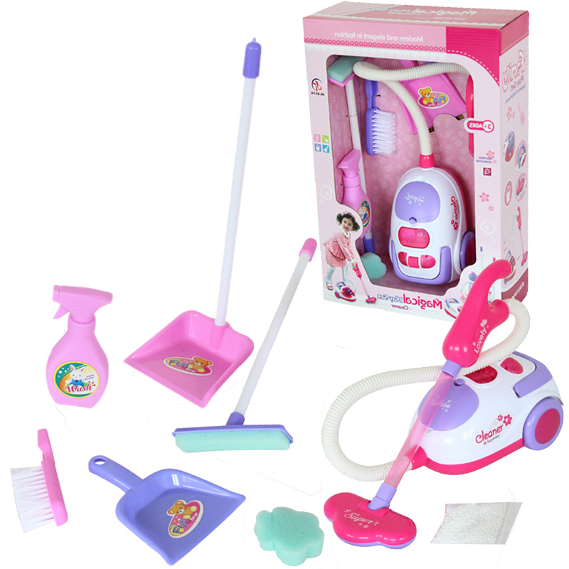Free Shipping Chirstmas Gift For Children Cleaning Tool Toy Vacuum Cleaner Kit Play House Toys Kids Set In Furniture From