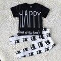 Primavera/outono Crianças recém-nascidas meninos conjunto de roupas de Bebê menino roupas de manga curta roupas da moda roupa do bebê da criança, idade 0-2 anos