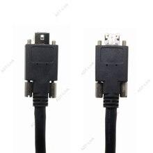 IEEE1394B 9PIN 9PIN Máy Tầm Nhìn Công Nghiệp Máy Ảnh Cáp Với trục vít khóa IEEE 1394 firewire Cáp Cho AVT JAI Baumer FLIR
