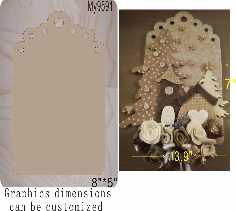 Birthday card wooden mold die cut accessories wooden die Regola Acciaio Die Misura MY