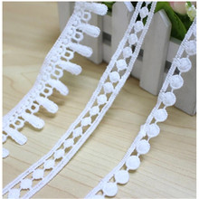 Cotton Line Water Soluble Hollow Bleaching White Small Lace Straight Edge Sleeves Decorative Fabric Clothing DIY Craft
